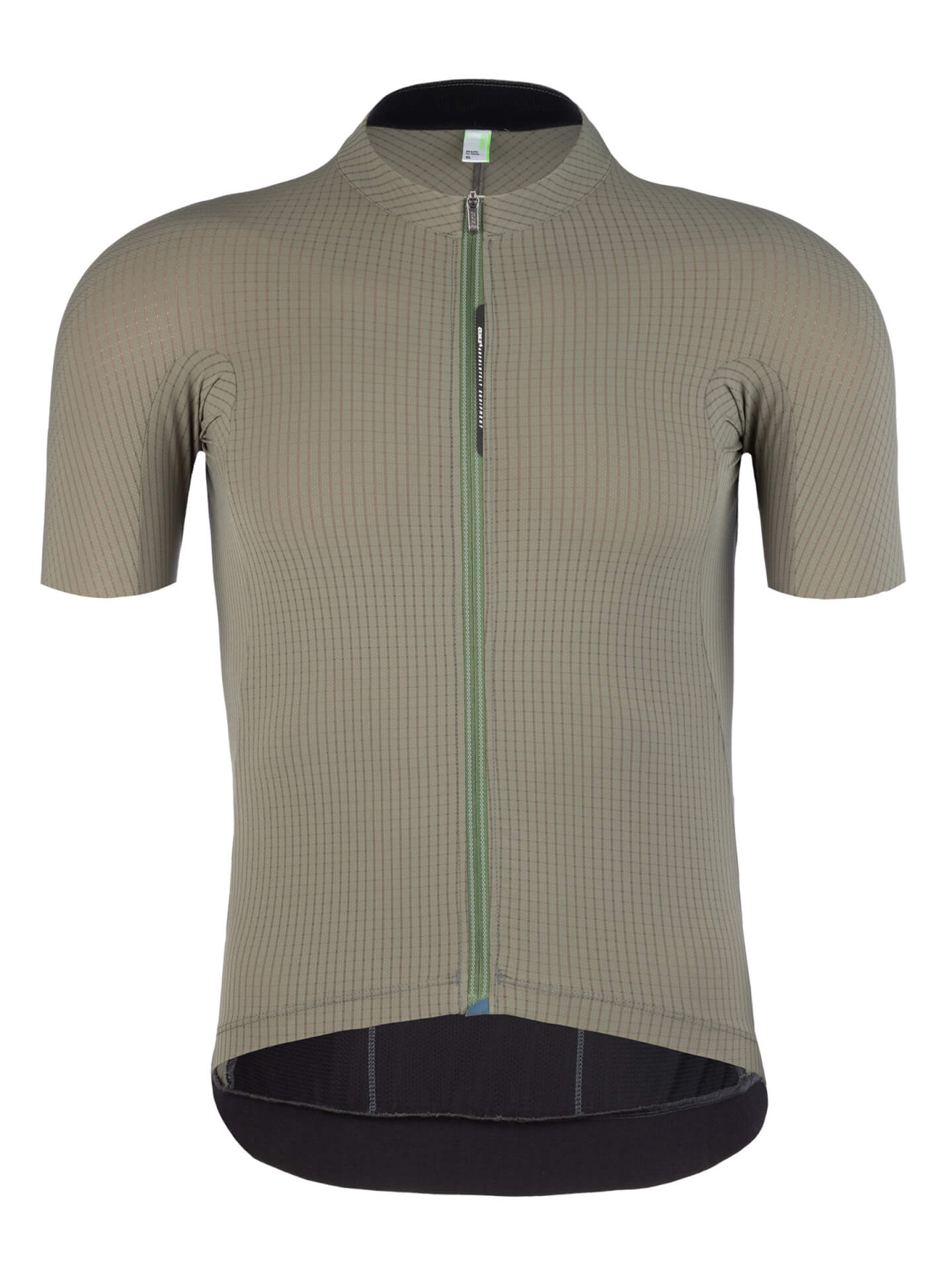 mens cycling jersey short sleeve Pinstripe X olive Q36.5