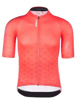 Maillot ciclismo hombre manga corta R2 Y rojo Q36.5