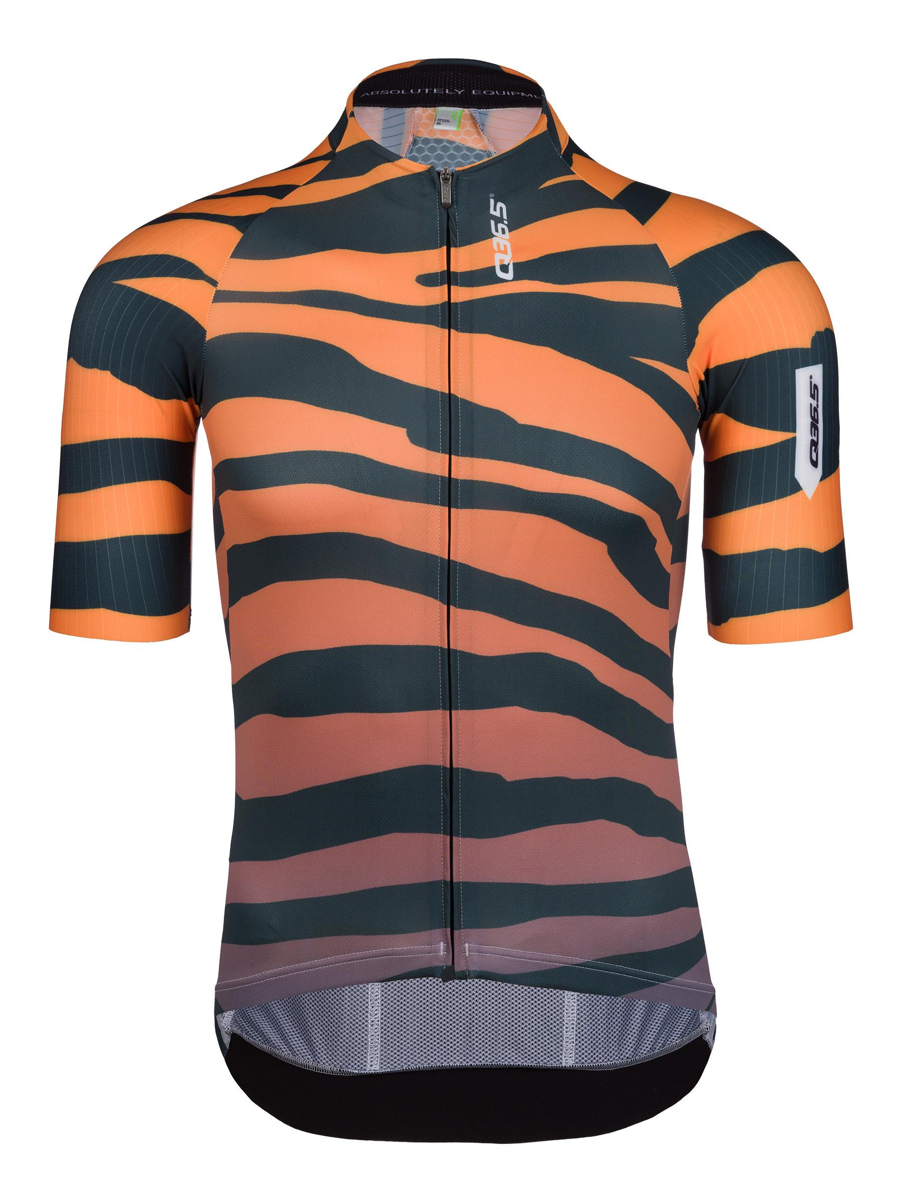 mens cycling short sleeve jersey r2 tiger orange