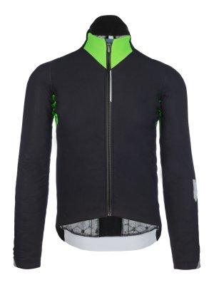 Giacca ciclismo termica Interval verde fluo 051.3
