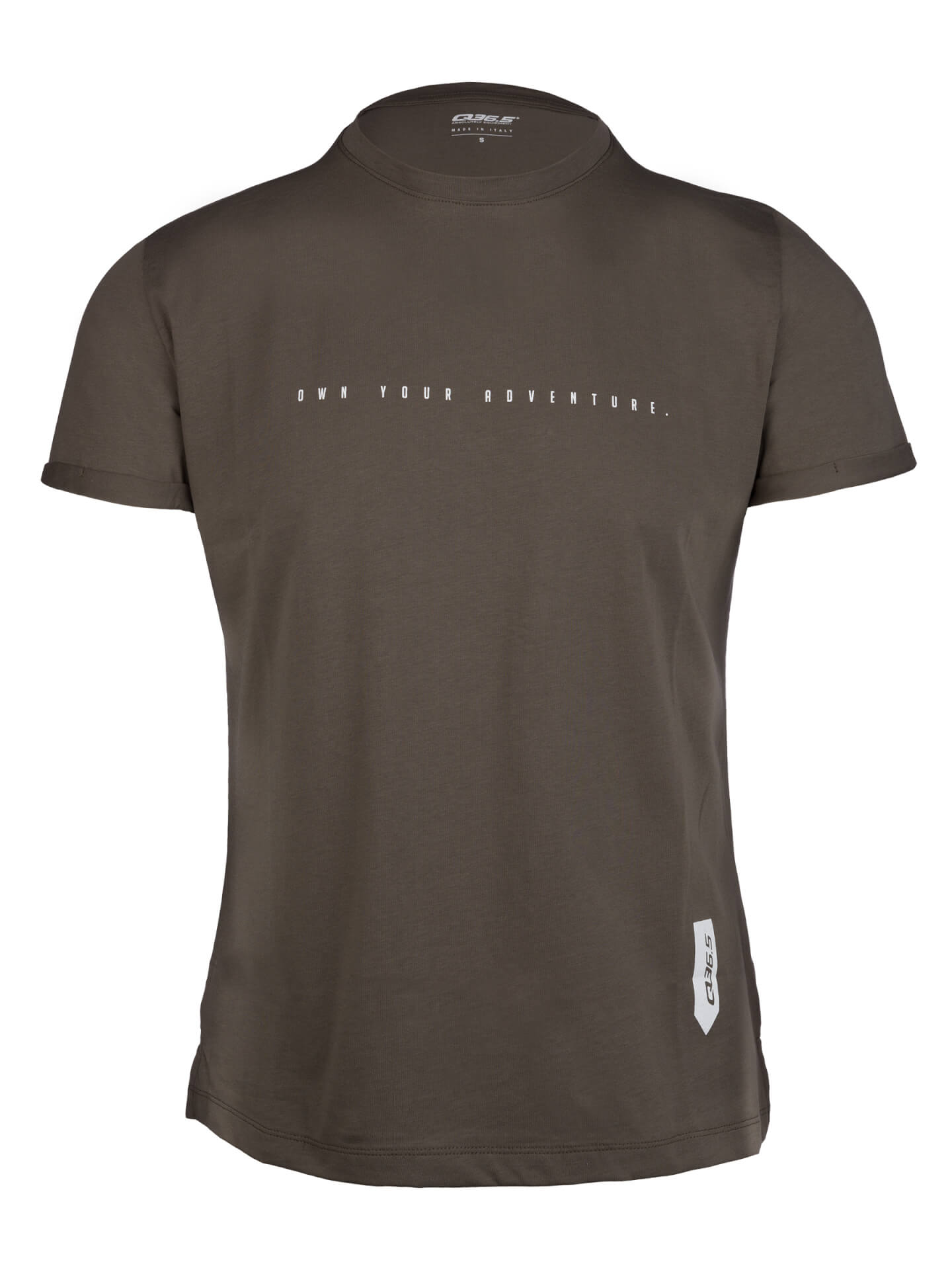 Mens t-shirt own your adventure olive green