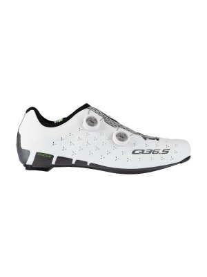 unique cycling shoes road bike white 300.1 side