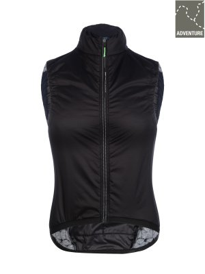 womens adventure cycling insulation vest Q36.5 - black - 061w.2