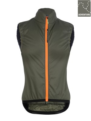 Womens adventure cycling insulation vest Q36.5 - olive green - 061W.14