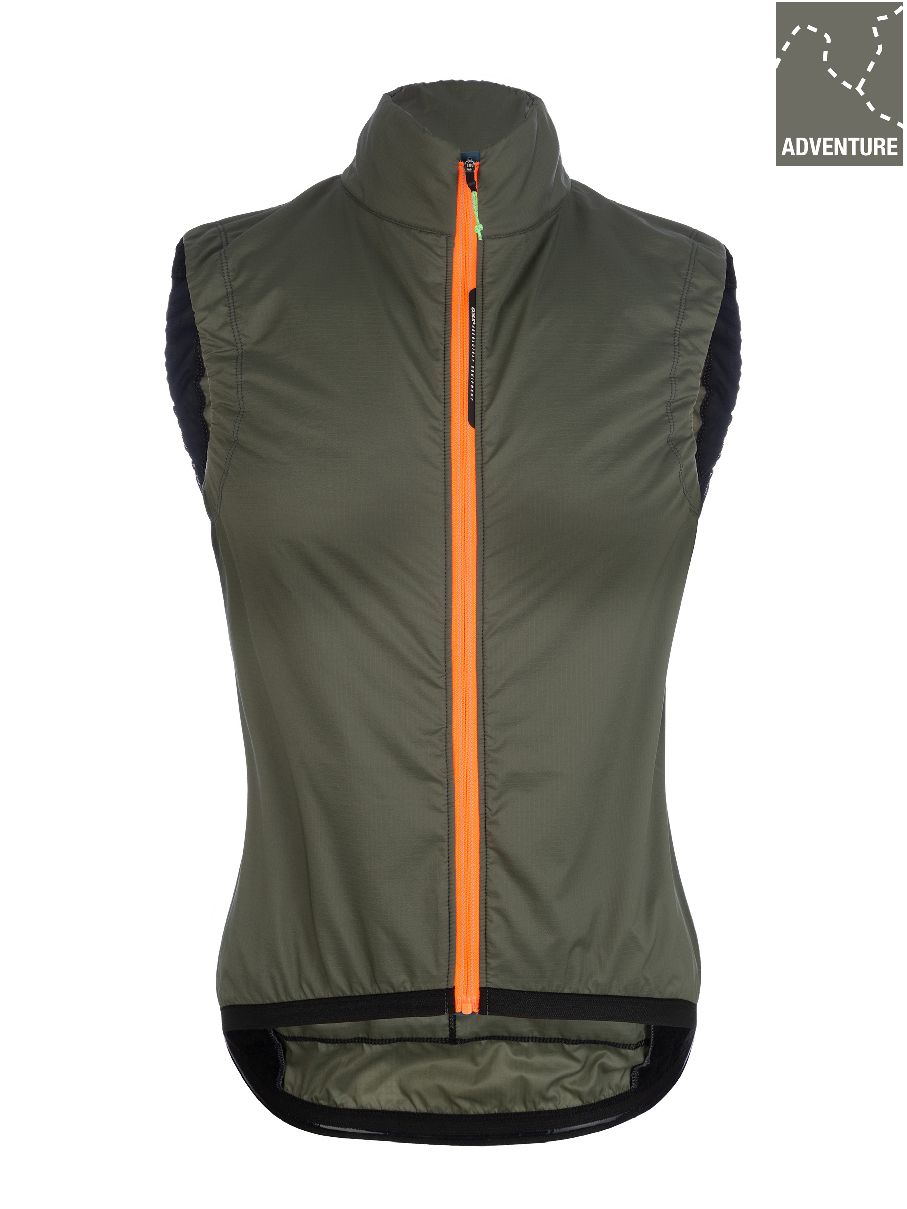 Gilet ciclismo donna Adventure Insulation Lady Q36.5 - verde oliva - 061W.14