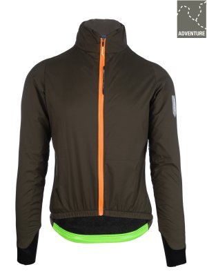 womens adventure winter cycling jacket Q36.5 - olive green - 062W.14
