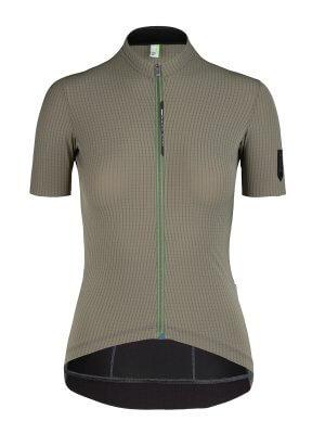 Maglia ciclismo donna a maniche corte L1 Woman Pinstripe X verde oliva Q36.5