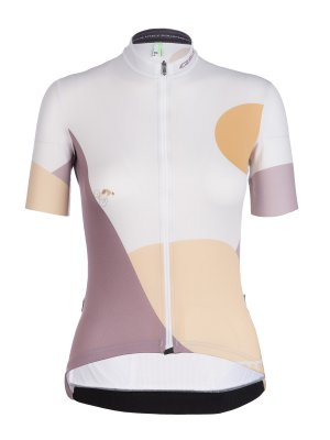 Womens cycling jersey Globe Trotter white Q36.5