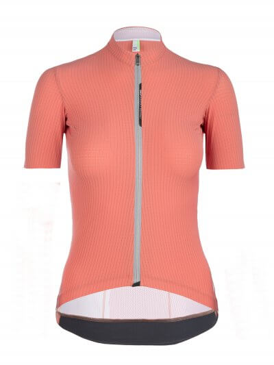 womens cycling jersey pinstripe x antique rose