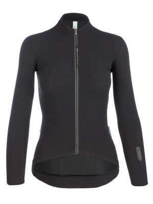 Womens cycling jersey long sleeve Pinstripe X black Q36.5