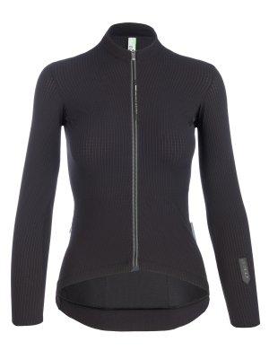 Maillot ciclismo mujer manga larga Pistripe X negro