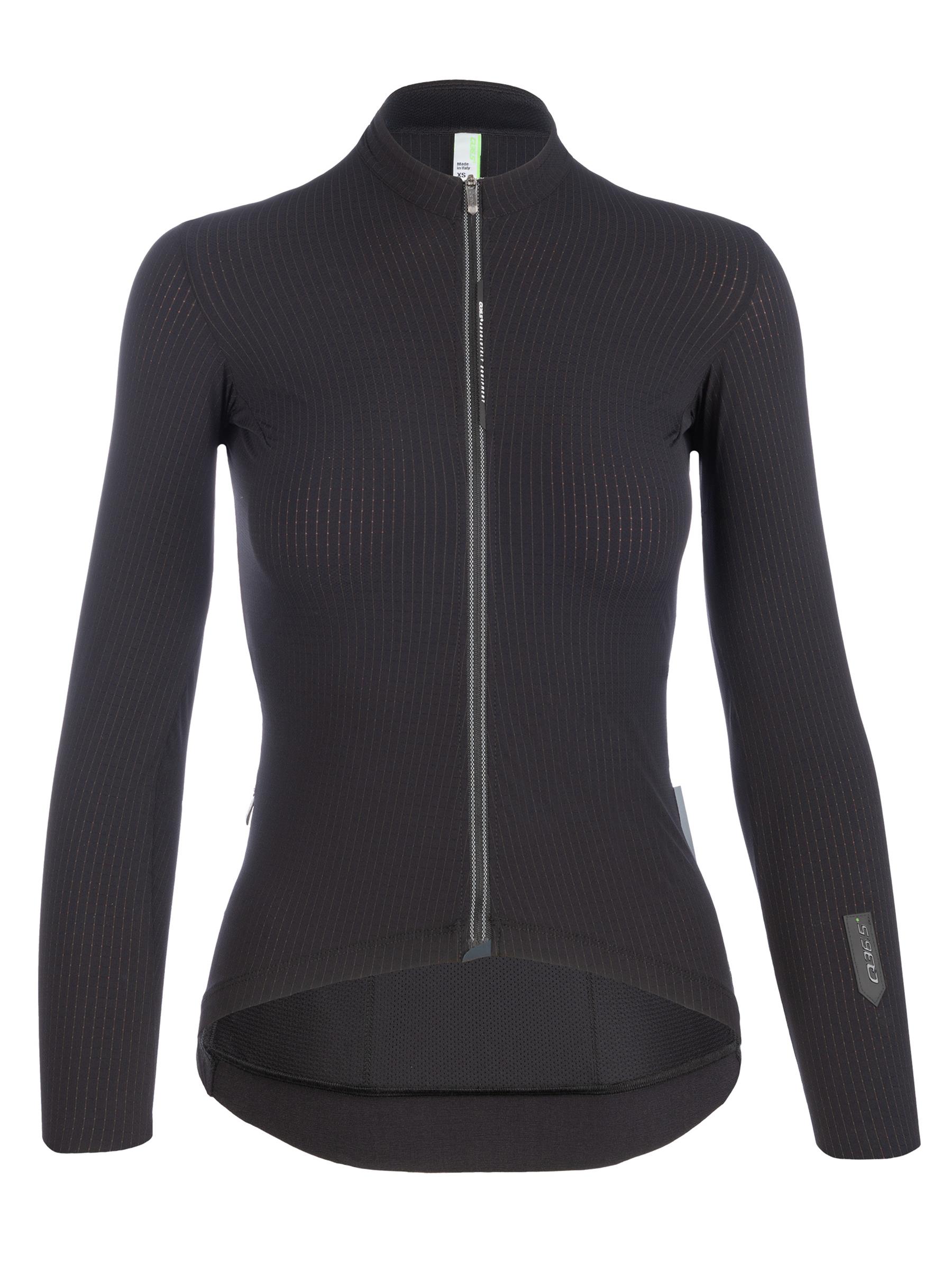 Maglia ciclismo donna maniche lunghe Pinstripe X nera