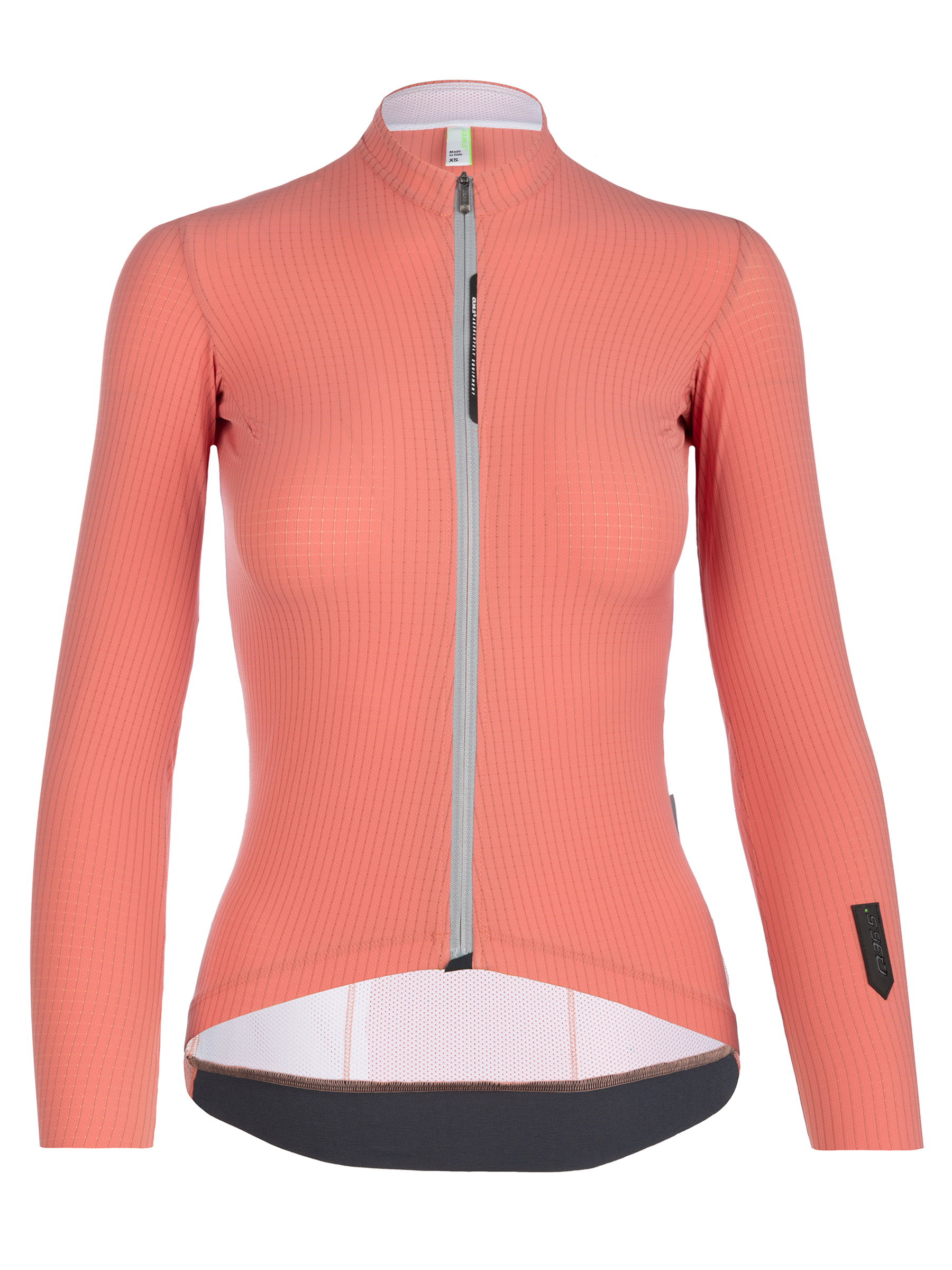 Maillot vélo femme manches longues Pinstripe X rose Q36.5