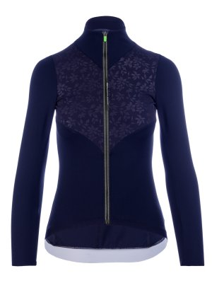 Womens long sleeve cycling jersey navy blue Q36.5 - 042W.9
